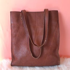 Duluth genuine leather tote bag